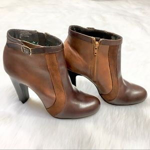 Seychelles Brown Suede Leather Ankle Booties 9